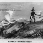 Cartoon depicting conflicts during the Mexican-American War among President Polk, General Winfield Scott, and peace commissioner Nicholas P. Trist, 1847 (Library of Congress)