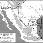 Mexican-American War (1846–48) troop movements and battles of 1846 and 1847 (American Military History, United States Army Center of Military History, 1989; University of Texas Libraries)