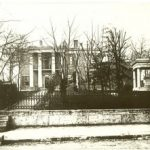 Polk Place, Nashville, where Polk lived at the end of his life in 1849 and where he was buried until 1893; house was demolished in 1901 (James K. Polk Memorial Association)